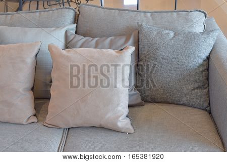 Close Up Image Of Gray Color Pillows