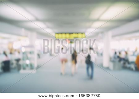Defocus image of terminal airport for background