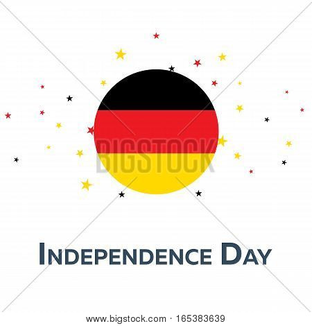 Independence Day Of Germany. Patriotic Banner. Vector Illustration.