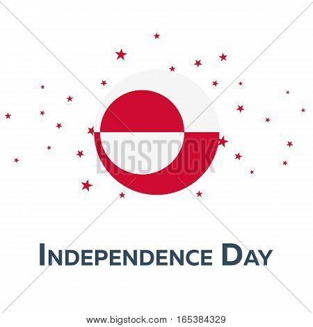 Independence Day Of Greenland. Patriotic Banner. Vector Illustration.
