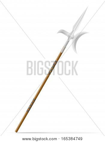 battle spear medieval stock vector illustration isolated on white background
