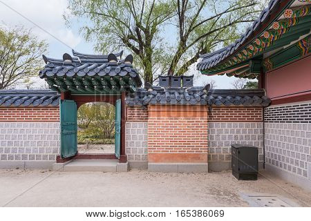 Gyeongbokgung Palace traditional architecture in Seoul South Korea