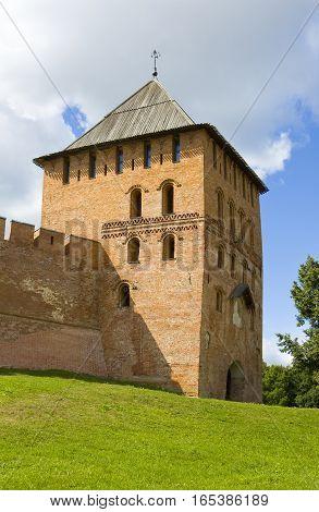 Fortress Novgorod Kremlin in town Great Novgorod Russia