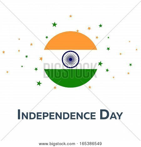 Independence Day Of India. Patriotic Banner. Vector Illustration.