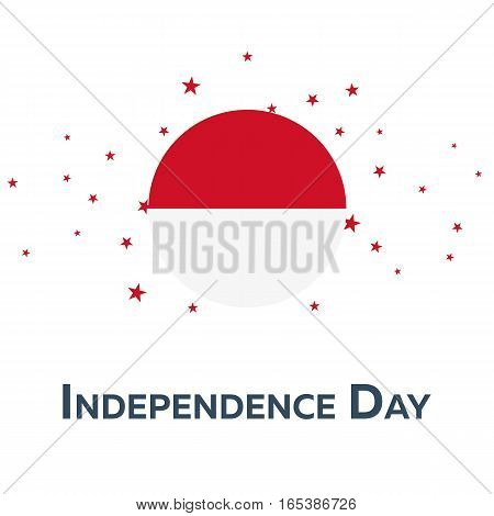 Independence Day Of Indonesia. Patriotic Banner. Vector Illustration.