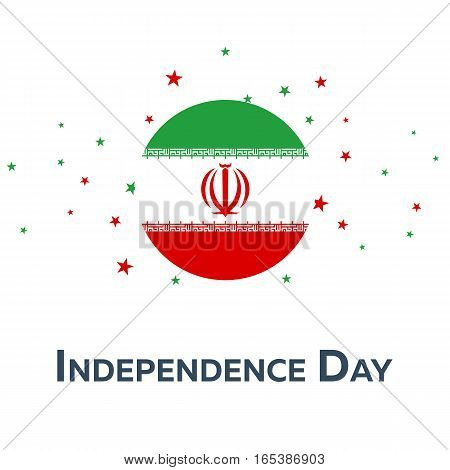 Independence Day Of Iran. Patriotic Banner. Vector Illustration.