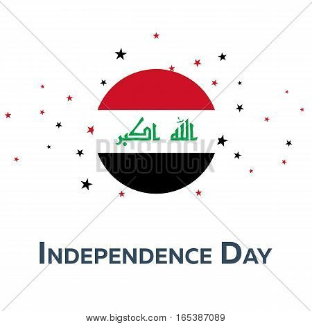 Independence Day Of Iraq. Patriotic Banner. Vector Illustration.