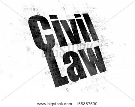 Law concept: Pixelated black text Civil Law on Digital background