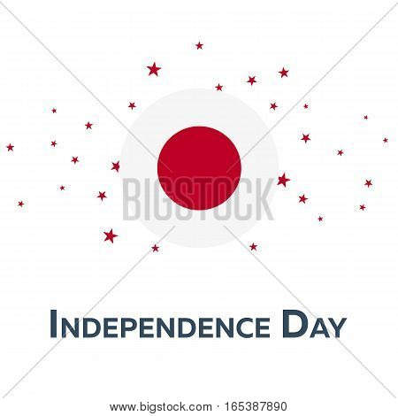 Independence Day Of Japan. Patriotic Banner. Vector Illustration.