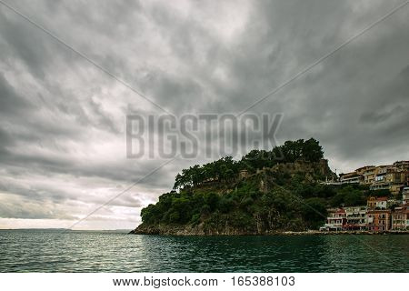 Storm clouds over the Ionian sea in Parga - Greece
