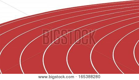 turn red running track stadium vector Illustrator