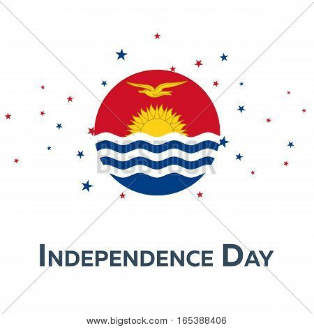 Independence Day Of Kiribati. Patriotic Banner. Vector Illustration.