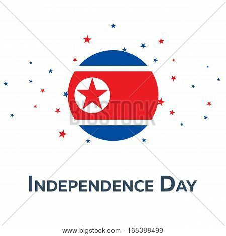 Independence Day Of North Korea. Patriotic Banner. Vector Illustration.