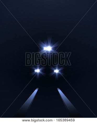 lights of train, vector abstract background eps 10