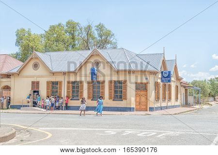 JAGERSFONTEIN SOUTH AFRICA - DECEMBER 31 2016: An historic old building in Jagersfontein a diamond mining town in the Free State Province of South Africa