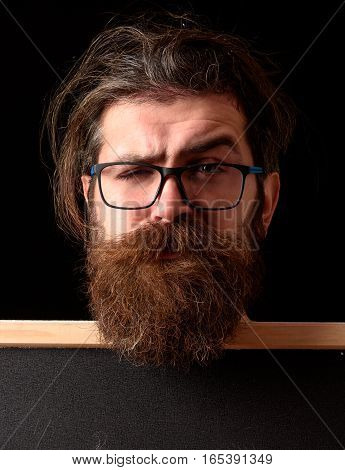 Funny Hipster In Glasses