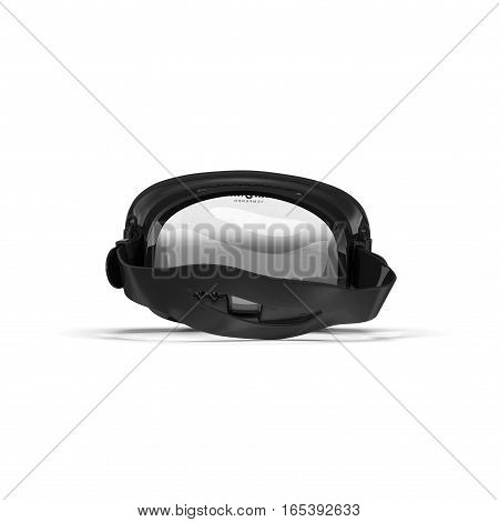 Rear view Diving mask on white background. 3D illustration