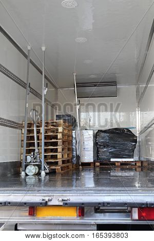 Refrigerator Truck Interior For Perishable Freight Transport