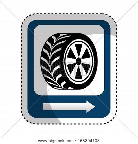 traffic signal car tire location vector illustration design