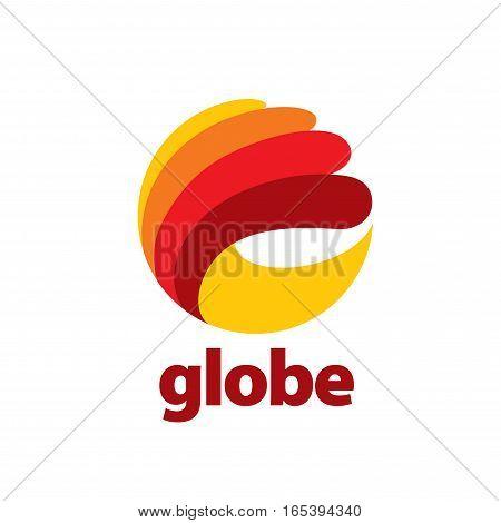 pattern design abstract logo Globe. Vector illustration