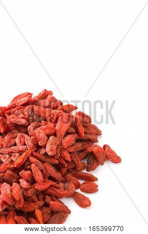 Wolfberries or Goji berries isolated on white background