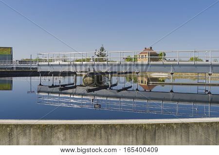 Moden urban wastewater treatment plant in holland