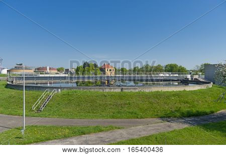 Moden urban wastewater treatment plant in the netherlands