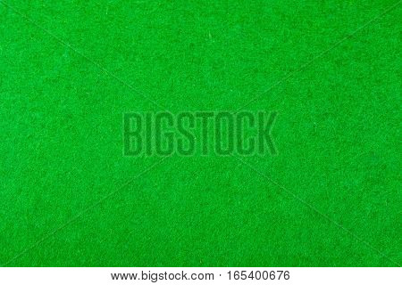 Green felt of a card table with no cards
