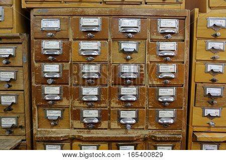 Filing Cabinets In The Library