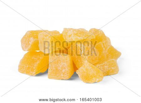 bunch of orange and lemon jelly Jelly, Red, Yellow, Group, White