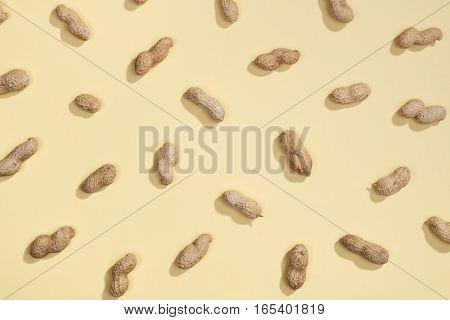 Peanut Nuts Flat Lay Pattern