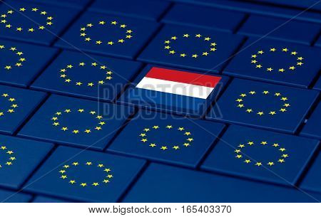 a concept of dutch elections eu and a pc keyboard