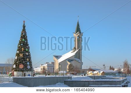 Beautiful View Of The Mosque In The Winter