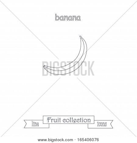 Line banana icon, fruit icon collection stock vector illustration