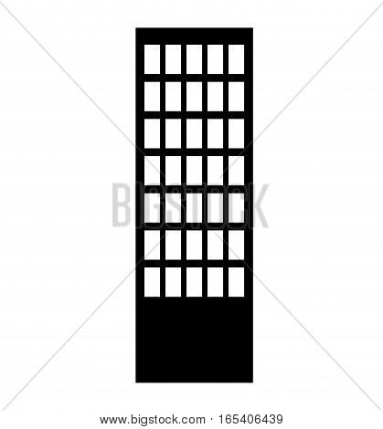 building silhouette isolated icon vector illustration design