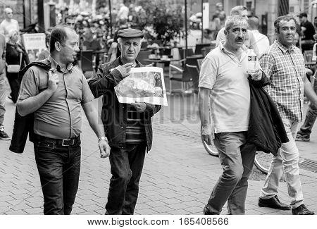 Freedom For Abdullah Ocalan Protest On Strasbourg Street