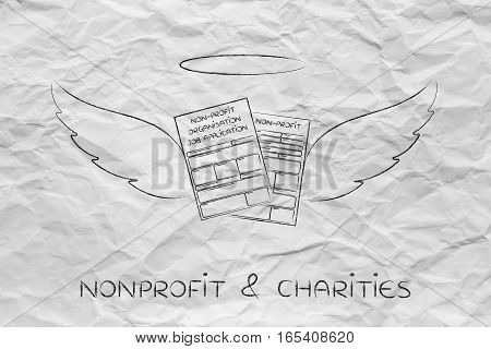 Nonprofit Organization Job Application Forms With Angel Wings