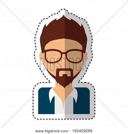 avatar man casual style vector illustration design
