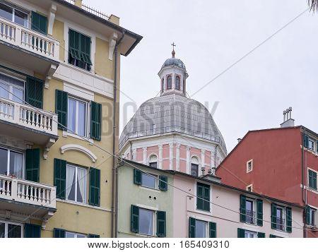 view of building in genova pegli in italy