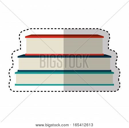 text books isolated icon vector illustration design