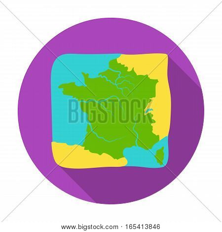 Territory of France icon in flat design isolated on white background. France country symbol stock vector illustration.