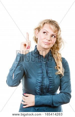 Business Woman Make Showing Gesture