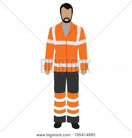 Worker Uniform Vector