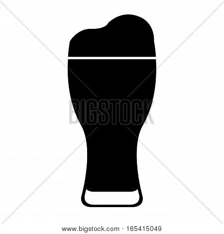 ice beer glass isolated icon vector illustration design