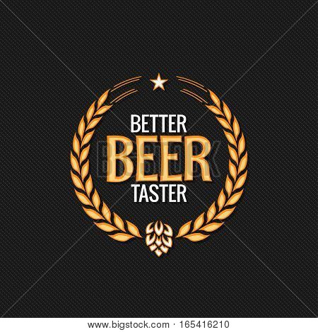 Beer Label Reward Logo Design Background 10 eps