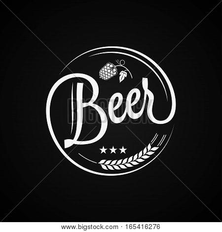 Beer Vintage Label Design Background 8 eps