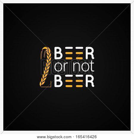 Beer Concept Logo Design Background 8 eps