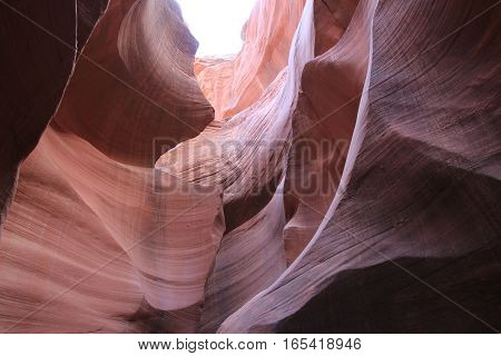 The national park Antelope canyon in America