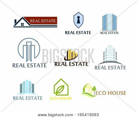 Illustration logos vector set isolated on white background