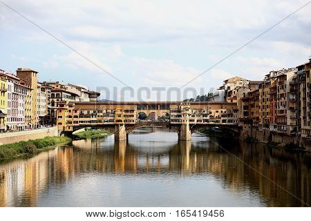 The Ponte Vecchio in Florence. Nature Italy
